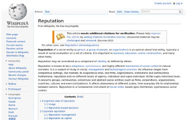 http://en.wikipedia.org/wiki/Reputation