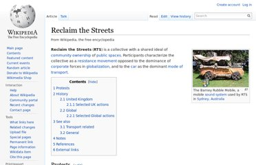 http://en.wikipedia.org/wiki/Reclaim_the_Streets