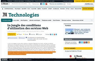 http://www.lemonde.fr/technologies/article/2011/07/04/la-jungle-des-conditions-d-utilisation-des-services-web_1544334_651865.html