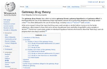 http://en.wikipedia.org/wiki/Gateway_drug_theory