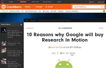 http://crackberry.com/10-reasons-why-google-will-buy-research-motion