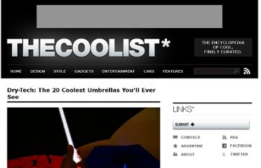 http://www.thecoolist.com/dry-tech-the-20-coolest-umbrellas-youll-ever-see/