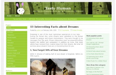 http://www.tastyhuman.com/13-interesting-facts-about-dreams/
