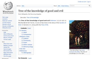 http://en.wikipedia.org/wiki/Tree_of_the_knowledge_of_good_and_evil