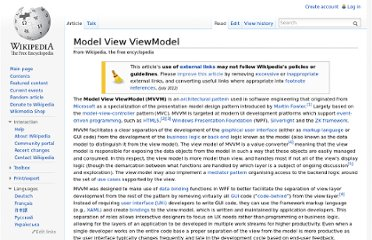 http://en.wikipedia.org/wiki/Model_View_ViewModel