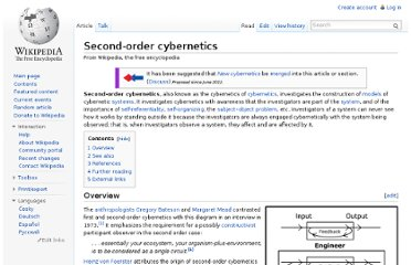 http://en.wikipedia.org/wiki/Second-order_cybernetics