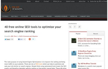 http://www.webanddesigners.com/40-freeonline-seo-tools-to-optimize-your-search-engine-ranking/