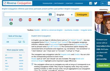 http://conjugator.reverso.net/conjugation-english.html