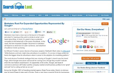 http://searchengineland.com/marketers-root-for-expanded-opportunities-represented-by-google-84224
