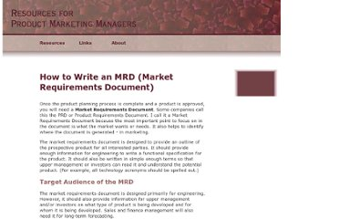 http://www.infrasystems.com/how-to-write-an-mrd.html