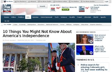 http://www.foxnews.com/us/2011/07/04/10-things-might-not-know-about-our-independence/