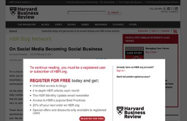 http://blogs.hbr.org/cs/2011/07/on_social_media_becoming_socia.html