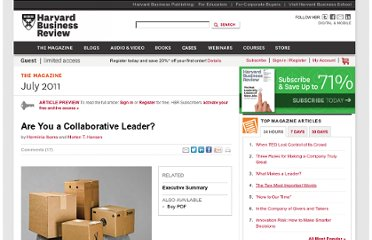 http://hbr.org/2011/07/are-you-a-collaborative-leader/ar/1