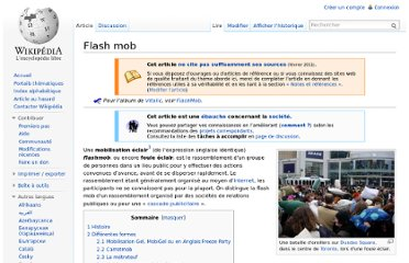 http://fr.wikipedia.org/wiki/Flash_mob