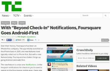 http://techcrunch.com/2011/07/05/foursquare-android-notifications/