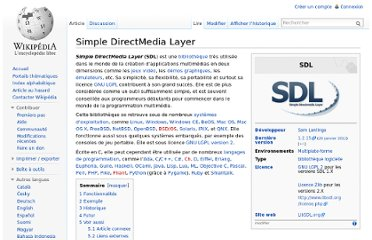 http://fr.wikipedia.org/wiki/Simple_DirectMedia_Layer