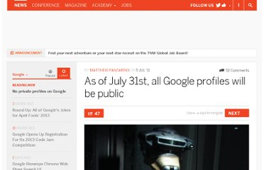 http://thenextweb.com/google/2011/07/05/as-of-july-31st-all-google-profiles-will-be-public/
