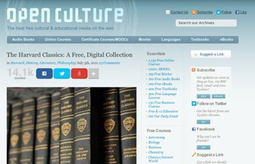http://www.openculture.com/2011/07/the_harvard_classics_a_free_digital_collection.html
