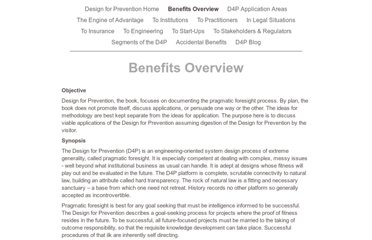 http://designforprevention.com/Benefits_Overview.html