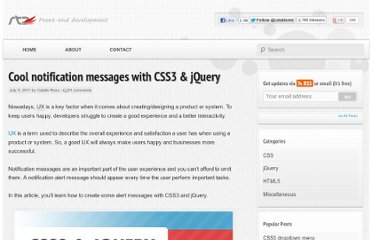 http://www.red-team-design.com/cool-notification-messages-with-css3-jquery
