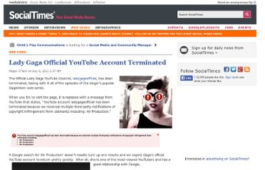 http://socialtimes.com/lady-gaga-official-youtube-account-terminated_b69413