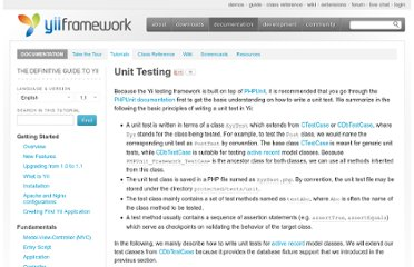 http://www.yiiframework.com/doc/guide/1.1/en/test.unit