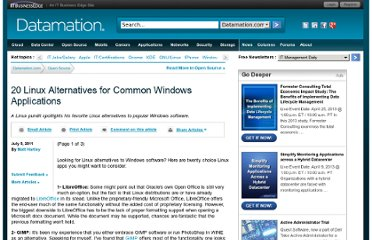 http://www.datamation.com/open-source/20-linux-alternatives-for-common-windows-applications-1.html