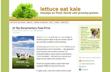 http://lettuceeatkale.com/2010/10-top-documentary-food-films/