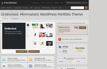 http://themeforest.net/item/gridlocked-minimalistic-wordpress-portfolio-theme/245947