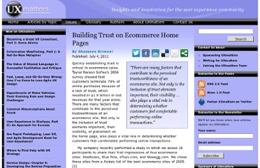 http://www.uxmatters.com/mt/archives/2011/07/building-trust-on-ecommerce-home-pages.php