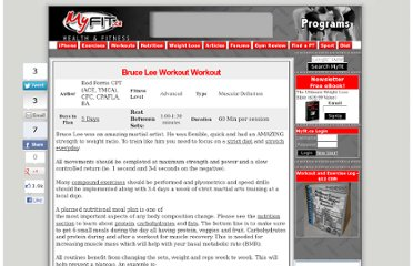 http://www.myfit.ca/fitnessprograms/viewprogram.asp?title=Bruce+Lee+Workout&programid=1723