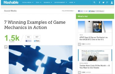 http://mashable.com/2011/07/06/7-winning-examples-of-game-mechanics-in-action/