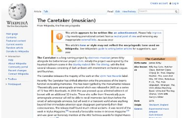 http://en.wikipedia.org/wiki/The_Caretaker_(musician)