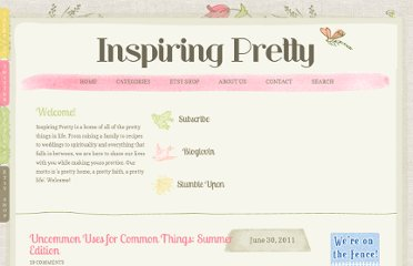 http://inspiringpretty.com/2011/06/30/uncommon-uses-for-common-things-summer-edition/