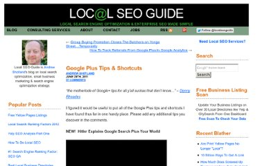 http://www.localseoguide.com/google-plus-shortcuts-tips/