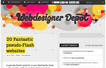 http://www.webdesignerdepot.com/2011/07/20-fantastic-pseudo-flash-websites/
