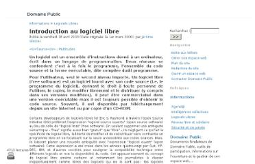 http://www.domainepublic.net/Introduction-au-logiciel-libre.html