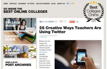 http://www.bestcollegesonline.com/blog/2011/07/06/28-creative-ways-teachers-are-using-twitter/