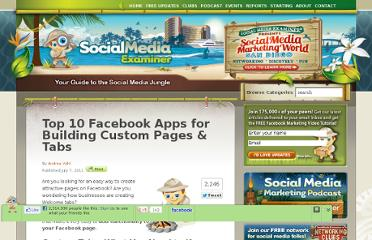 http://www.socialmediaexaminer.com/top-10-facebook-apps-for-building-custom-pages-tabs/
