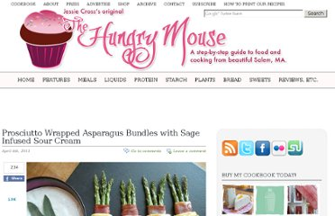 http://www.thehungrymouse.com/2011/04/04/prosciutto-wrapped-asparagus-bundles-with-sage-infused-sour-cream/