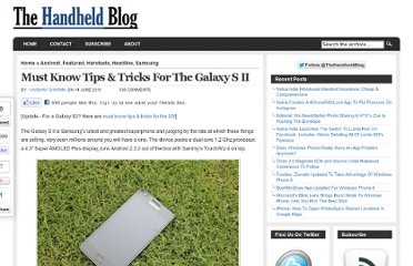 http://thehandheldblog.com/2011/06/14/galaxy-s2-tips-tricks/