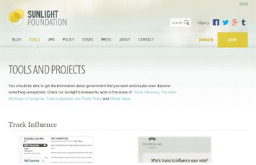 http://sunlightfoundation.com/projects/