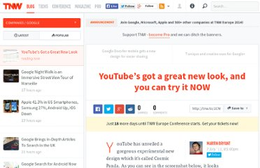 http://thenextweb.com/google/2011/07/07/youtubes-got-a-great-new-look-and-you-can-try-it-now/