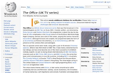 http://en.wikipedia.org/wiki/The_Office_(UK_TV_series)