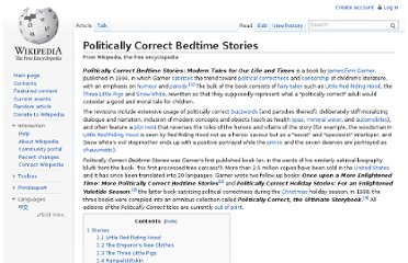 http://en.wikipedia.org/wiki/Politically_Correct_Bedtime_Stories