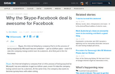 http://gigaom.com/2011/07/07/why-the-skype-facebook-deal-is-awesome-for-facebook/