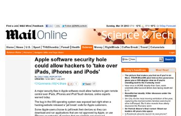 http://www.dailymail.co.uk/sciencetech/article-2012180/Apple-software-security-hole-allow-hackers-iPads-iPhones-iPods.html