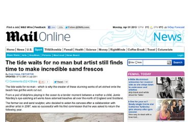 http://www.dailymail.co.uk/news/article-2011472/The-tide-waits-man-artist-finds-time-make-incredible-sand-frescos.html