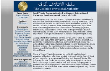 http://www.iraqcoalition.org/economy/iraq_private_banks.html