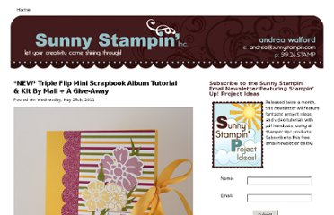 http://andreawalford.com/new-triple-flip-mini-scrapbook-album-tutorial-kit-by-mail-a-give-away